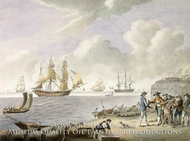 Slave Traffic painting reproduction, S. Hutchinson