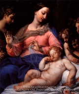 Sleeping Christ Child with Music Making Angels by Carlo Maratta