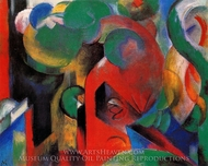 Small Composition painting reproduction, Franz Marc