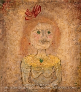 Small Portrait of a Girl in Yellow by Paul Klee
