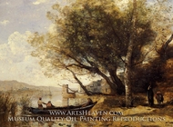 Smyrne-Bornabat painting reproduction, Jean-Baptiste Camille Corot