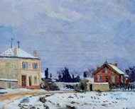Snow painting reproduction, Armand Guillaumin