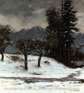 Snow by Gustave Courbet