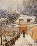 Snow at Louveciennes by Alfred Sisley
