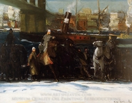 Snow Dumpers painting reproduction, George Bellows