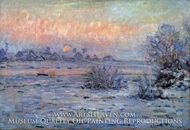 Snowy Landscape at Sunset by Claude Monet