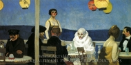 Soir Bleu painting reproduction, Edward Hopper