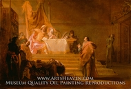 Solon before Croesus painting reproduction, Nikolaus Knupfer