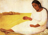 South American Indian Spinning painting reproduction, Diego Rivera