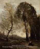 Souvenir of Italy painting reproduction, Jean-Baptiste Camille Corot