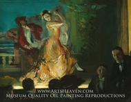 Spanish Music Hall painting reproduction, Everett Shinn