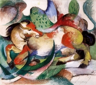 Spingendes Pferd painting reproduction, Franz Marc
