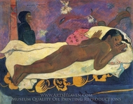 Spirit of the Dead Keep Watch painting reproduction, Paul Gauguin