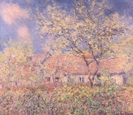 Spring at Giverny painting reproduction, Claude Monet