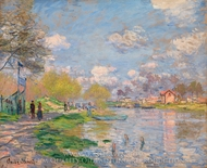 Spring by the Seine painting reproduction, Claude Monet