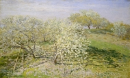 Spring (Fruit Trees in Bloom) painting reproduction, Claude Monet