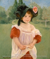 Spring: Margot Standing in a Garden (Fillette dans un jardin) painting reproduction, Mary Cassatt