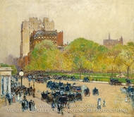 Spring Morning in the Heart of the City by Childe Hassam
