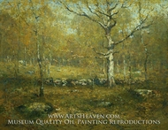 Spring Woods painting reproduction, Henry Ward Ranger