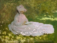 Springtime painting reproduction, Claude Monet