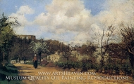 Springtime in Louveciennes painting reproduction, Camille Pissarro
