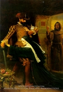 St. Bartholemew's Day painting reproduction, John Everett Millais