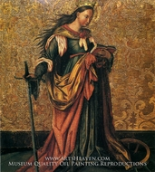 St. Catherine of Alexandria painting reproduction, Konrad Witz