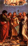 St. Cecilia with Saints painting reproduction, Raphael Sanzio