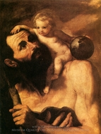 St. Christopher painting reproduction, Jusepe De Ribera
