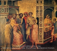 St. Eloi Before King Clotarius painting reproduction, Taddeo Gaddi