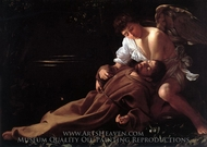St. Francis in Ecstasy painting reproduction, Caravaggio