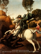 St. George and the Dragon by Raphael Sanzio