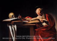 Saint Gerome Writing painting reproduction, Caravaggio