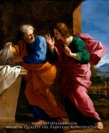 St. John and St. Peter at Christ's Tomb by Giovanni Francesco Romanelli