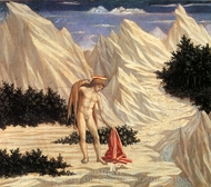 St. John in the Desert painting reproduction, Domenico Veneziano