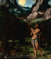 St. John the Baptist in the Wilderness painting reproduction, Moretto Da Brescia