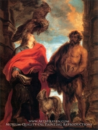 St. John the Evangelist and St. John the Baptist painting reproduction, Sir Anthony Van Dyck