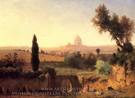 St. Peter's, Rome painting reproduction, George Inness