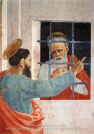 St. Peter Visited in Jail by St. Paul by Filippino Lippi