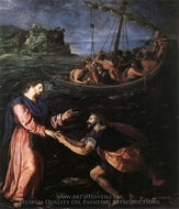 St. Peter Walking on the Water painting reproduction, Alessandro Allori