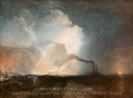 Staffa, Fingal's Cave painting reproduction, Joseph Mallord William Turner