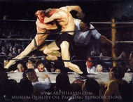 Stag Night at Sharkey's painting reproduction, George Bellows