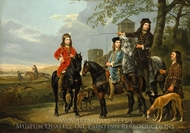 Starting for the Hunt painting reproduction, Aelbert Cuyp