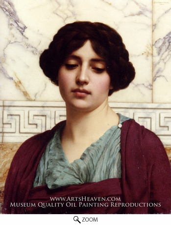 Painting Reproduction of Stesicrate, John William Godward
