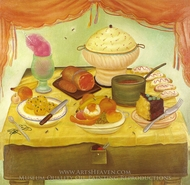 Still Life painting reproduction, Fernando Botero