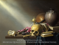 Still Life, An Allegory of the Vanities of Human Life painting reproduction, Harmen Steenwyck