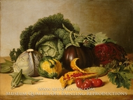 Still Life: Balsam Apple and Vegetables painting reproduction, James Peale