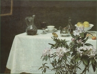 Still Life, Corner of a Table painting reproduction, Henri Fantin-Latour