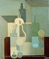 Still Life, Dishes painting reproduction, Amedee Ozenfant