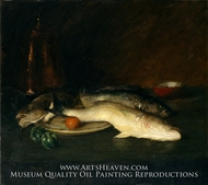 Still Life Fish painting reproduction, William Merritt Chase
